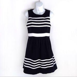 Ladies J Crew A-Line Black White Dress Size XS